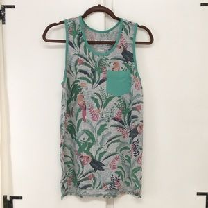 Mossimo Supply Co. Tops - Mossimo Supply Co. Green Tank Top Tropical Print
